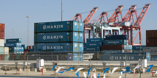 South Korea's Hanjin Shipping Co. containers are seen in the Port of Long Beach, Calif., on Thursday, Sep 1, 2016. The bankruptcy of the Hanjin shipping line has thrown ports and retailers around the world into confusion, with giant container ships marooned and merchants worrying whether tons of goods will reach their shelves. The South Korean giant filed for bankruptcy protection on Wednesday and stopped accepting new cargo. With its assets being frozen, ships from China to Canada found themsel