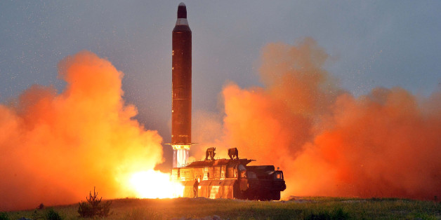 A test launch of ground-to-ground medium long-range ballistic rocket Hwasong-10 in this undated photo released by North Korea's Korean Central News Agency (KCNA) on June 23, 2016.  REUTERS/KCNA        ATTENTION EDITORS - THIS PICTURE WAS PROVIDED BY A THIRD PARTY. REUTERS IS UNABLE TO INDEPENDENTLY VERIFY THE AUTHENTICITY, CONTENT, LOCATION OR DATE OF THIS IMAGE. FOR EDITORIAL USE ONLY. NOT FOR SALE FOR MARKETING OR ADVERTISING CAMPAIGNS. NO THIRD PARTY SALES. NOT FOR USE BY REUTERS THIRD PARTY