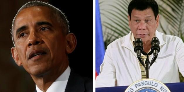 """Der philippinische Präsident nennt Obama einen """"Hurensohn"""" - dessen Antwort sitzt"""