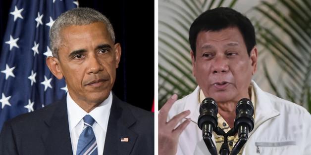 """Obama annule sa visite avec le président philippin qui l'a traité de """"fils de ****"""""""
