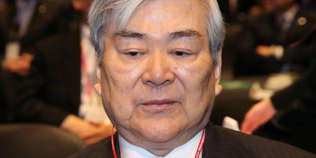조양호 한진그룹 회장이 지난 5월 서울 신라호텔에서 열린 아시안리더십콘퍼런스 개회식에 참석해 착석해 있다.