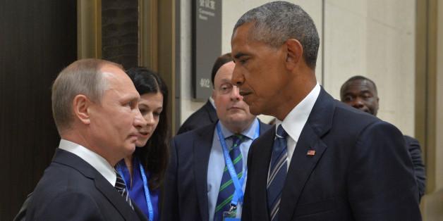 Wenn Blicke töten könnten... Putin und Obama während des G20-Gipfels in China