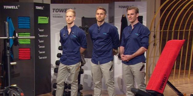 Florian Goecke, Lennart Rieper und Paul Dudda wollen mit ihrem neuen Sporthandtuch euren Besuch im Fitnessstudio besser machen