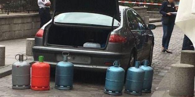 La voiture aux bonbonnes de gaz retrouvée à Paris le 3 septembre 2016