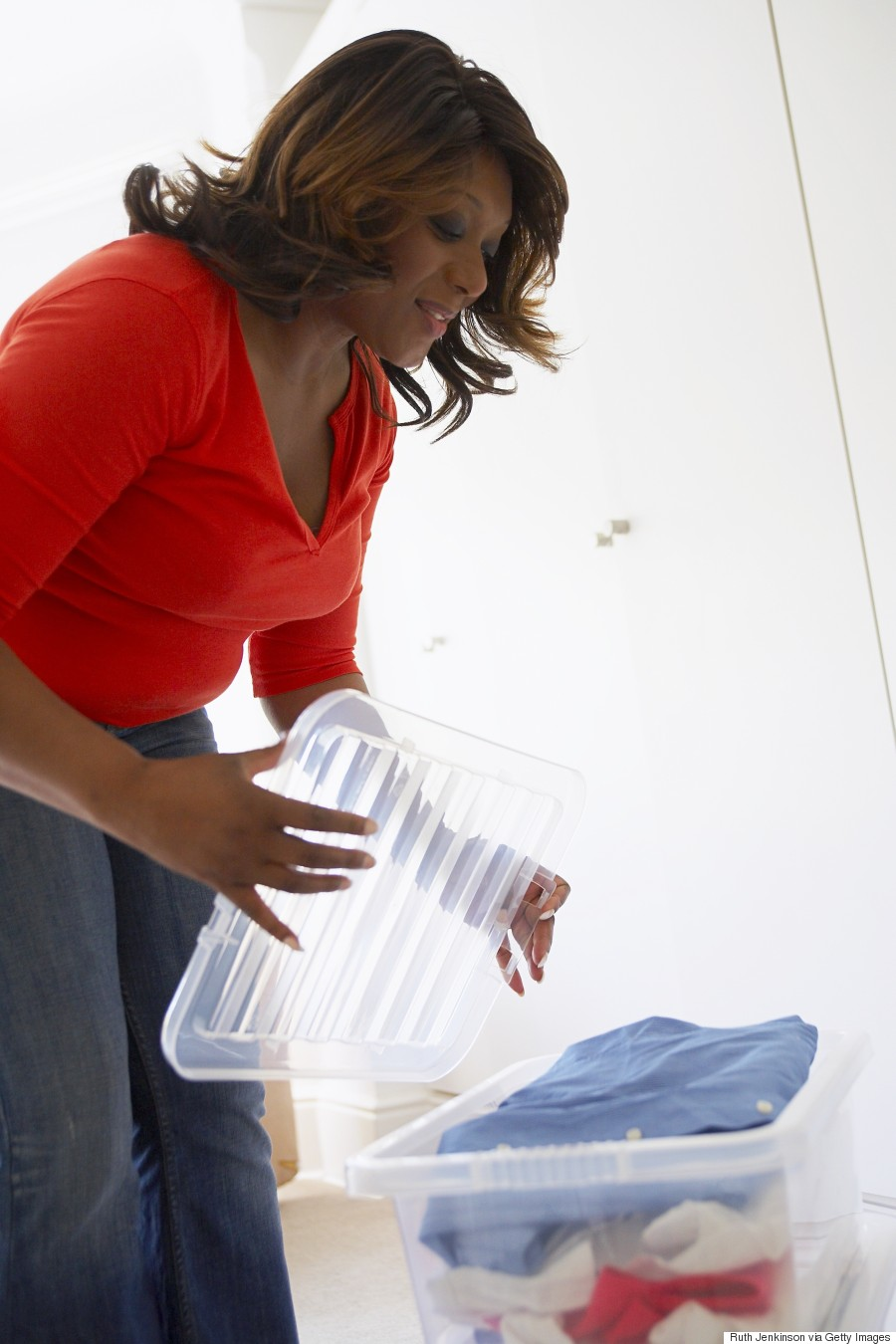 woman storage container
