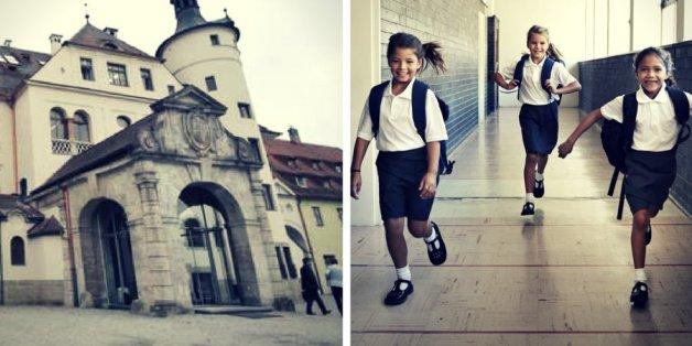 Das Bild zeigt das private Gymnasium Neubeuern. Immer mehr Eltern schicken ihre Kinder auf Privatschulen.