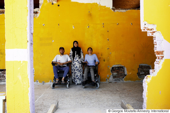 greece refugees disabled