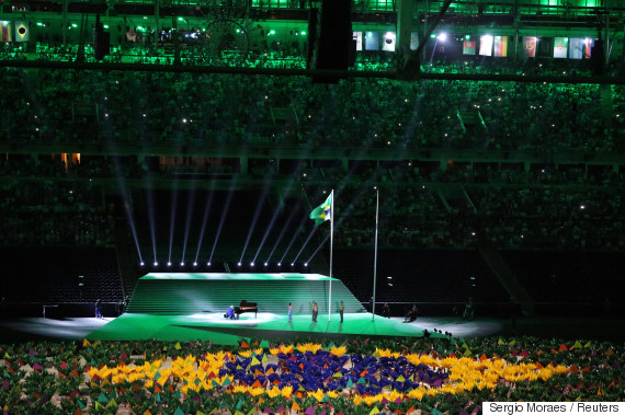 rio paralympic games opening flag