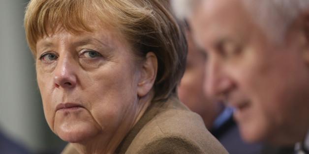 Die deutsche Bundeskanzlerin Angela Merkel und Horst Seehofer