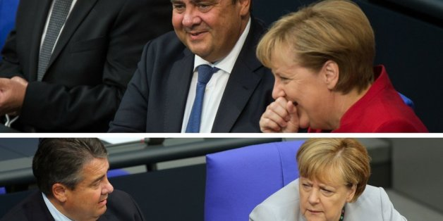 Angela Merkel und Sigmar Gabriel hatten am Mittwoch offenbar gut lachen auf der Regierungsbank.