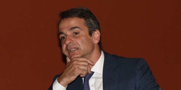 Kyriakos Mitsotakis, leader of the Nea Dimokratia attend at the presidential mansion in Athens on July 24, 2016 to celebrate the anniversary of the restoration of democracy in Greece after seven years of military dictatorship on July 24 1974. (Photo by Wassilios Aswestopoulos/NurPhoto via Getty Images)