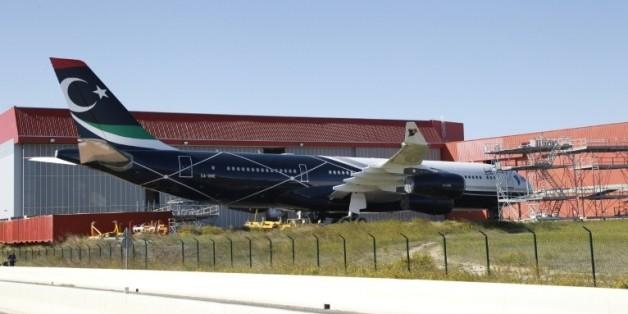 Photo du luxueux A340 prise à Rivesaltes, près de Perpignan, le 14 octobre 2015