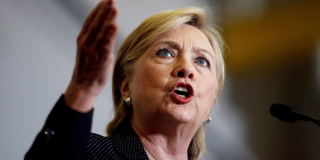 FILE PHOTO --  U.S. Democratic presidential nominee Hillary Clinton speaks at Futuramic Tool & Engineering in Warren, Michigan August 11, 2016. REUTERS/Chris Keane/File Photo