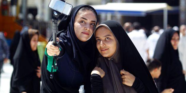 Des iraniennes en pélerinage à la ville sainte chiite de Kerbala, en Irak, le 9 septembre 201
