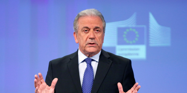 European Commissioner for Migration and Home Affairs Dimitris Avramopoulos addresses a news conference at the EU Commission headquarters in Brussels, Belgium, May 4, 2016.   REUTERS/Francois Lenoir