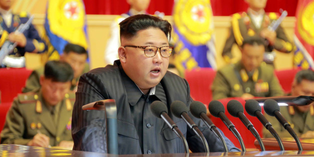 North Korean leader Kim Jong Un guides the 3rd Meeting of Activists of the Korean People's Army (KPA) in the Movement for Winning the Title of O Jung Hup-led 7th Regiment in this undated photo released by North Korea's Korean Central News Agency (KCNA) in Pyongyang on August 4, 2016. KCNA/ via REUTERS ATTENTION EDITORS - THIS PICTURE WAS PROVIDED BY A THIRD PARTY. REUTERS IS UNABLE TO INDEPENDENTLY VERIFY THE AUTHENTICITY, CONTENT, LOCATION OR DATE OF THIS IMAGE. FOR EDITORIAL USE ONLY. NOT FOR