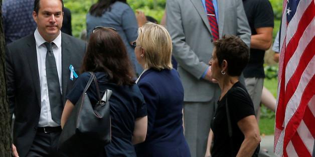 Zusammenbruch: Hillary Clinton muss 9/11-Trauerfeier frühzeitig verlassen