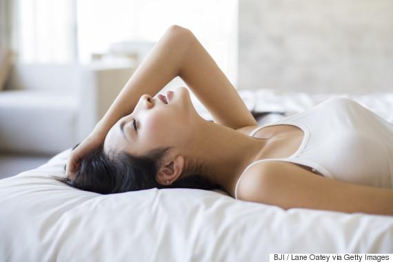 sleep woman happy