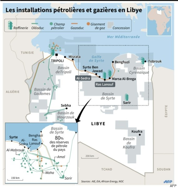 libye carte pétrole