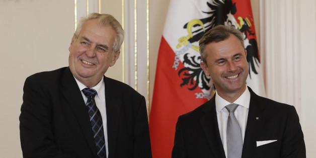 Der tschechische Präsident Milos Zeman hat den Rechtspopulisten Norbert Hofer getroffen - kurz vor der Wahlwiederholung in Österreich