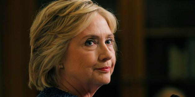 """U.S. Democratic presidential candidate Hillary Clinton speaks to reporters after holding a """"National Security Working Session"""" with national security advisors in New York, U.S. September 9, 2016.  REUTERS/Brian Snyder"""