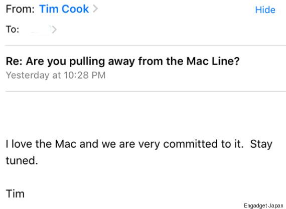 tim cook mail