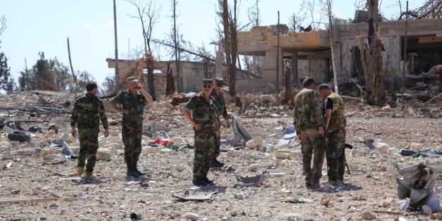 Forces armées loyales au président Bachar al-Assad après la reprise du sud-ouest d'Alep, 5 septembre 2016.