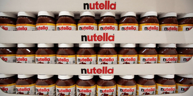Jars of Nutella chocolate-hazelnut paste are displayed at a Carrefour hypermarket in Nice, France, April 6, 2016. REUTERS/Eric Gaillard