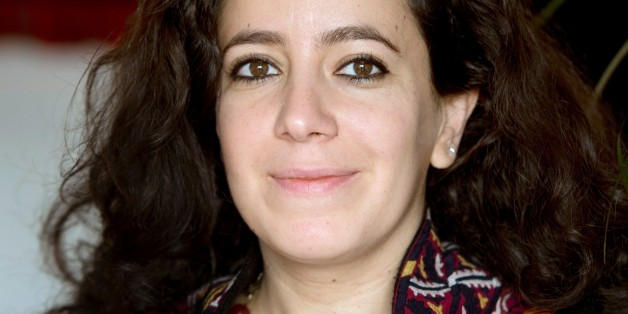 Tunisian director Leyla Bouzid poses in Paris on December 7, 2015.
