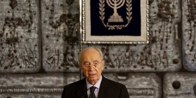Israel's President Simon Peres delivers a statement to the press at his residence in Jerusalem September 21, 2008. Israeli Prime Minister Ehud Olmert formally submitted his resignation to President Shimon Peres on Sunday, Israeli media reported. Olmert, who faces criminal indictment in corruption probes, could stay in office as caretaker prime minister for weeks or months until a new coalition government is formed or a new parliamentary election held. REUTERS/Ronen Zvulun (JERUSALEM)
