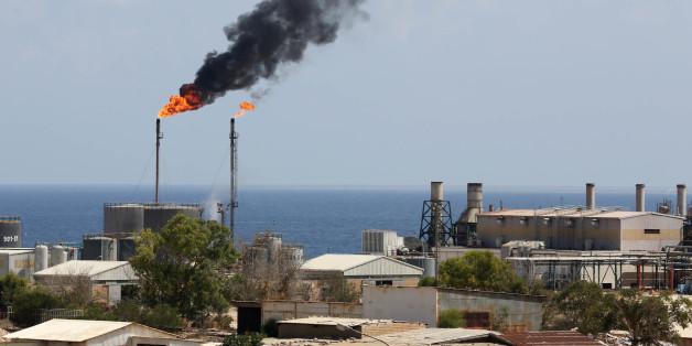 Le terminal pétrolier de Zawiya, le 22 août 2013