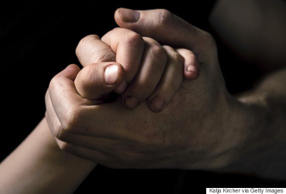black hands holding