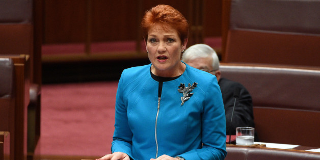 Australia's One Nation party leader Senator Pauline Hanson makes her maiden speech in the Senate at Parliament House in Canberra, Australia, September 14, 2016. AAP/Mick Tsikas/via REUTERS  ATTENTION EDITORS - THIS PICTURE WAS PROVIDED BY A THIRD PARTY. EDITORIAL USE ONLY. NO RESALES. NO ARCHIVE. AUSTRALIA OUT. NEW ZEALAND OUT.        TPX IMAGES OF THE DAY