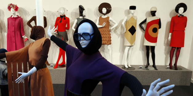 "A view shows fashion creations by French fashion designer Pierre Cardin in his museum called ""Past-Present-Future"" in Paris November 12, 2014. The museum will open on November 13 and will show Pierre Cardin's 60-year career and creative passion with some 200 Couture pieces, as well as hats, shoes, pieces of jewellery and furniture. REUTERS/Charles Platiau   (FRANCE - Tags: FASHION SOCIETY)"