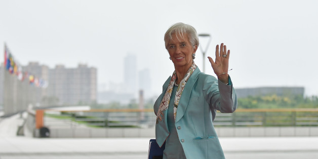 IMF Managing Director Christine Lagarde arrives at the Hangzhou International Expo Center to attend the G20 Summit in Hangzhou on September 4, 2016. World leaders are gathering in Hangzhou for the 11th G20 Leaders Summit from September 4 to 5. / AFP / POOL / Etienne Oliveau        (Photo credit should read ETIENNE OLIVEAU/AFP/Getty Images)