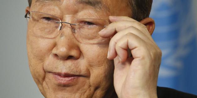 United Nations Secretary-General Ban Ki-moon speaks during an interview at U.N. headquarters, Friday Sept. 9, 2016. (AP Photo/Bebeto Matthews)