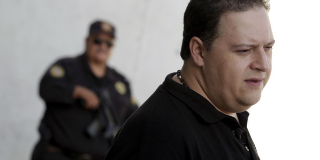 Sebastian Marroquin, son of late Colombian drug lord Pablo Escobar Gaviria, tours the Independencia neighbourhood in Monterrey, Mexico, August 26, 2015. Marroquin is in this northern city for a lecture about his father and his life as son of one of the most notorious drug lords, local media reported. REUTERS/Daniel Becerril