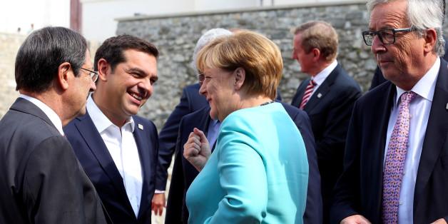 Tsipras, Merkel und Juncker (von li. nach re.) beim EU-Gipfel in Bratislava