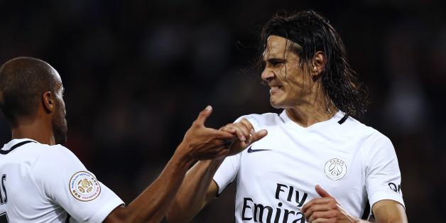 Regardez les quatre buts d'Edinson Cavani lors de la raclée infligée par le PSG à Caen (6-0)