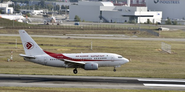 An Air Algerie aircraft lands at the Toulouse-Blagnac airport on September 29, 2014. AFP PHOTO / PASCAL PAVANI        (Photo credit should read PASCAL PAVANI/AFP/Getty Images)