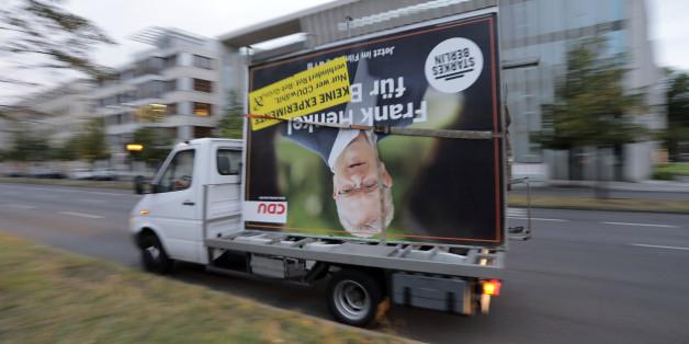 Ein Wahlplakat der CDU in Berlin