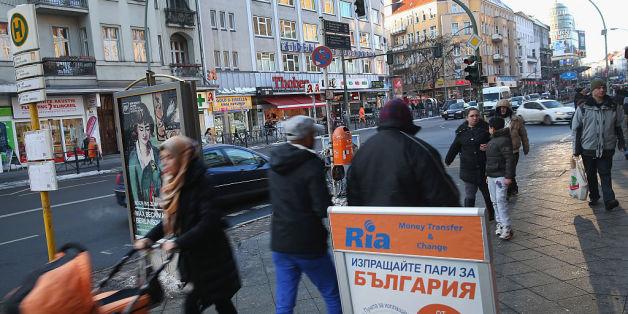 Eine Straße im Bezirk Berlin-Neukölln