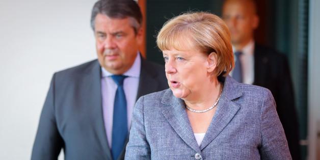 Kanzlerin Angela Merkel und Vize-Kanzler Sigmar Gabriel