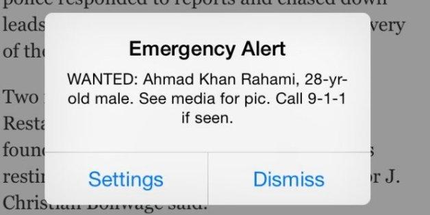 Explosion à Chelsea: pourquoi tous les utilisateurs d'iPhone à New York ont reçu une alerte sur le suspect recherché