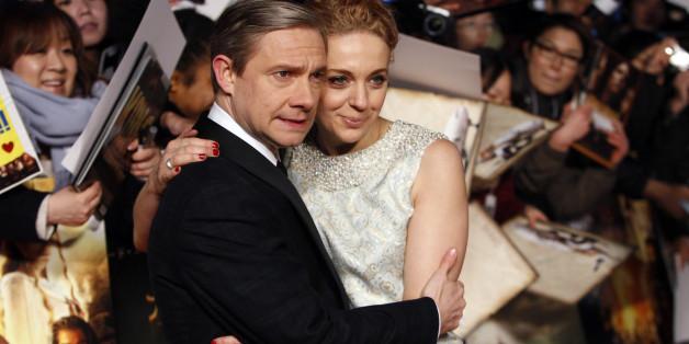 """Martin Freeman und Amanda Abbington bekamen für """"Sherlock"""" einen Emmy - während dessen wurde ihre Handtasche gestohlen"""