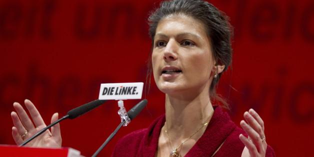 Die Linkspartei-Fraktionschefin im Bundestag Sarah Wagenknecht