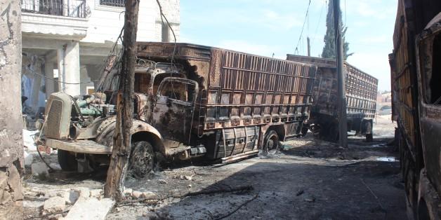 Ein bombardierter Hilfskonvoi in Syrien