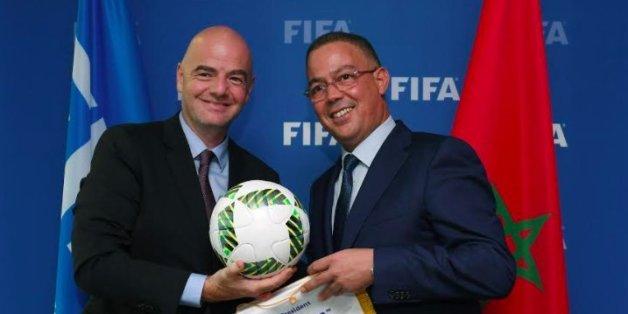 Faouzi Lakjaâa a rencontré le patron de la FIFA Gianni Infantino, le 20 septembre à Zurich