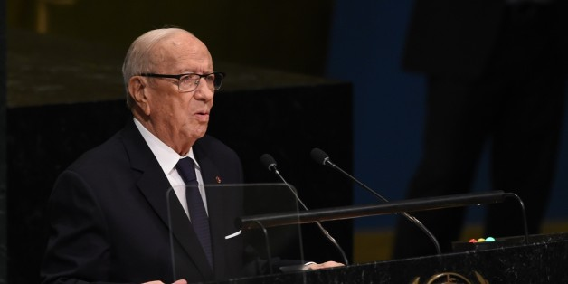 Béji Caïd Essebsi, President of Tunisia addresses the 71st session of the United Nations General Assembly at the UN headquarters in New York on September 20, 2016.  / AFP / TIMOTHY A. CLARY        (Photo credit should read TIMOTHY A. CLARY/AFP/Getty Images)