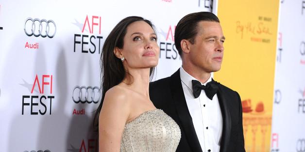 Les acteurs américains Angelina Jolie et Brad Pitt, le 5 novembre 2015 à Hollywood